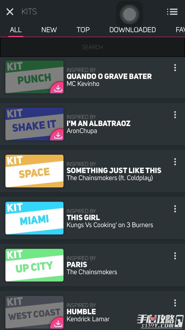 Sperpads音乐包对应歌曲名汇总8