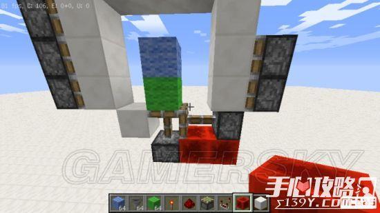 《我的世界》3x3活塞门建造详细图文教程 6