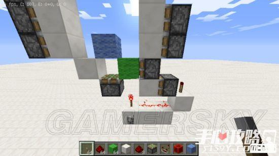 《我的世界》3x3活塞门建造详细图文教程 12