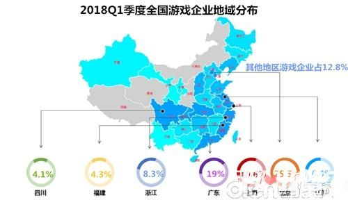 2018年Q1中国游企版图产业报告 电竞成为狗年游戏新风向标3