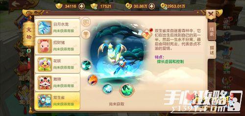 《热血江湖手游》情意绵绵 双生雀萌宠上线2