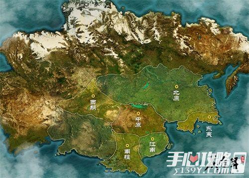 《庆余年》手游世界大地图首曝,庆国雄霸四方来朝1