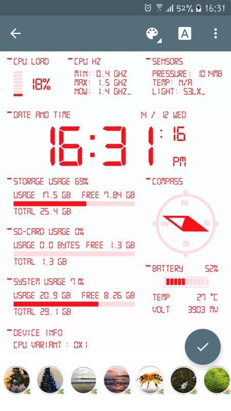 Oajoo Device Info Wallpaper