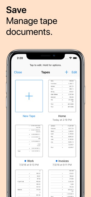 Digits Tape Calculator