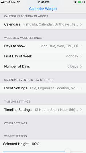 Week Calendar Widget Pro