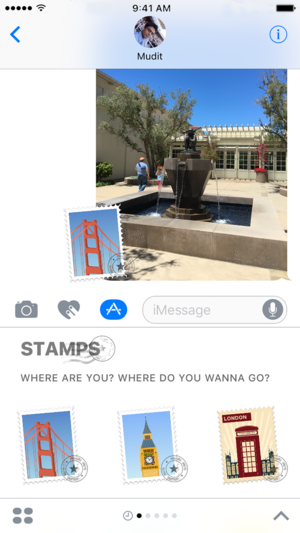 Places: Stamps and Stickers