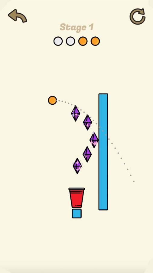 扔一个乒乓球