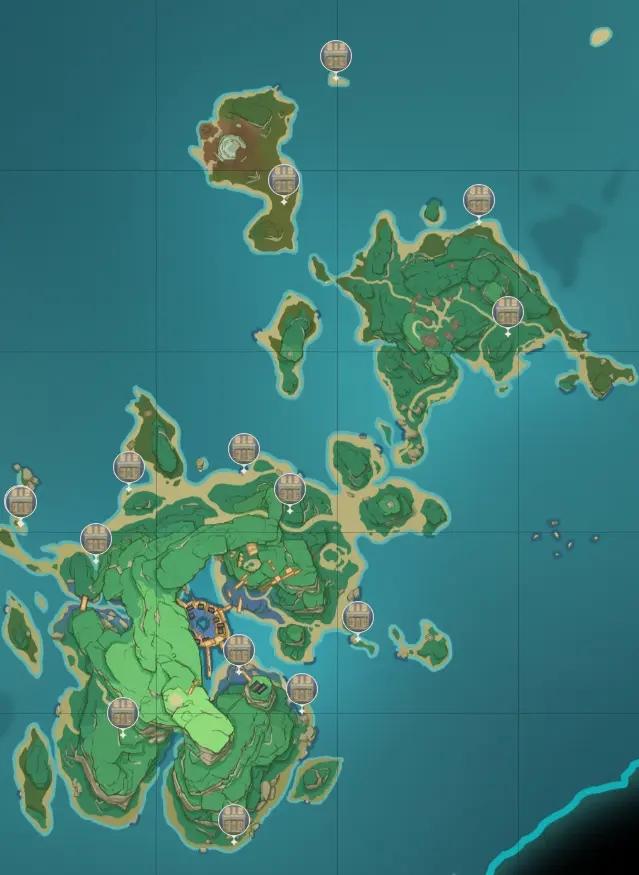 原神稻妻地图宝箱位置大全 稻妻194个宝箱分布位置图文一览图片13