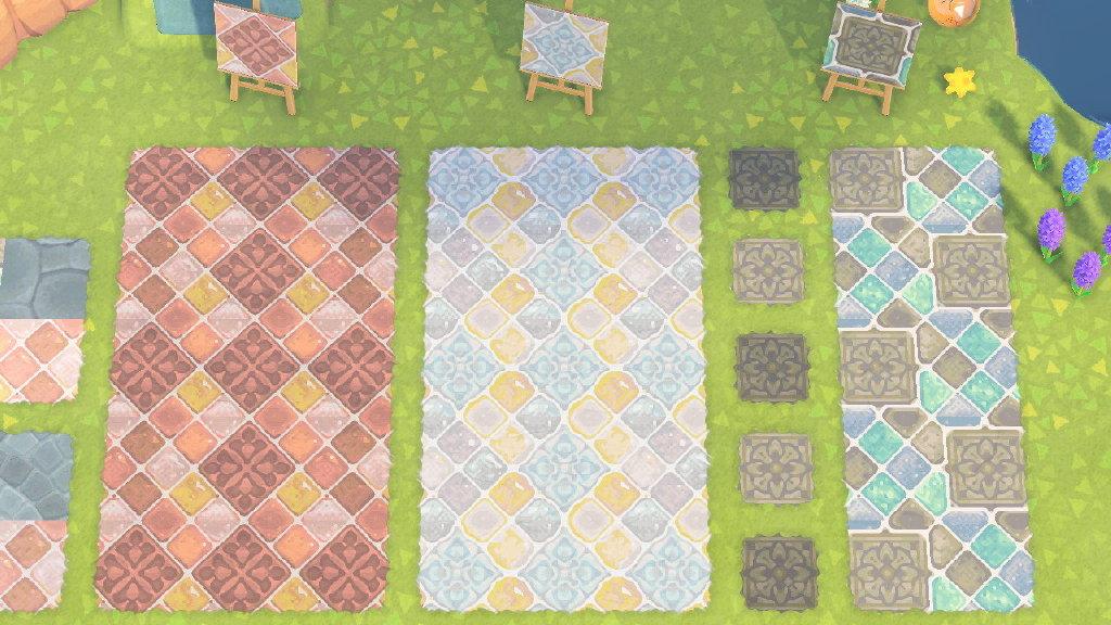 动物森友会彩色砖块地面素材分享1