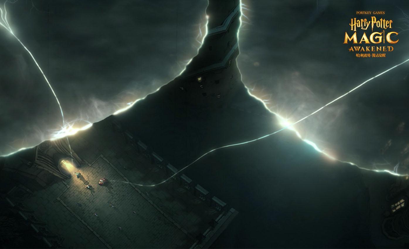 《哈利波特:魔法觉醒》霍格沃茨城堡在夜幕下矗立,神秘魔法空间缓缓开启7