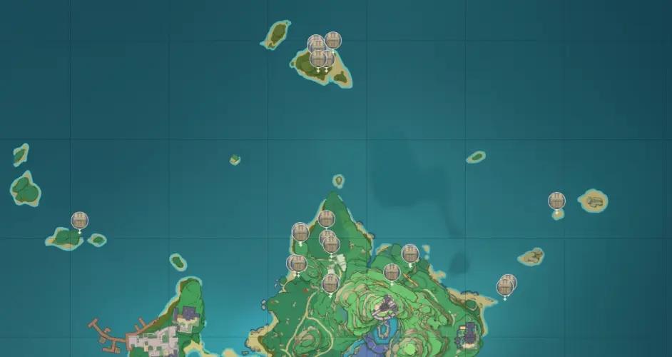 原神稻妻地图宝箱位置大全 稻妻194个宝箱分布位置图文一览图片15