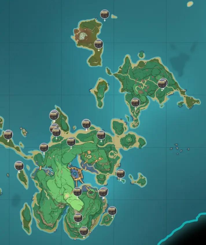 原神稻妻地图宝箱位置大全 稻妻194个宝箱分布位置图文一览图片18