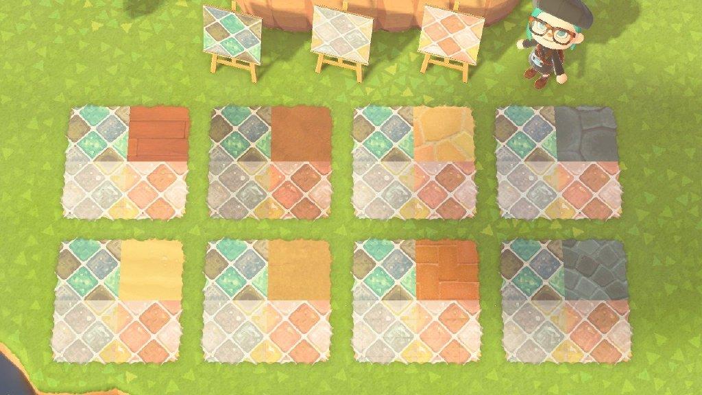 动物森友会彩色砖块地面素材分享8