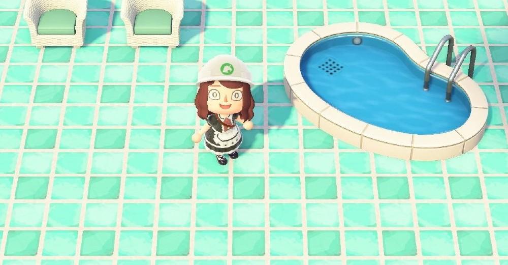 动物森友会泳池方形地砖素材分享1