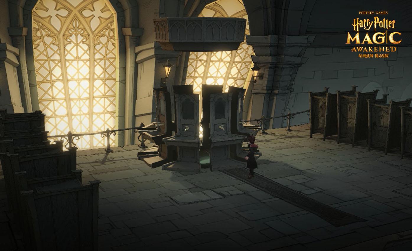 《哈利波特:魔法觉醒》霍格沃茨城堡在夜幕下矗立,神秘魔法空间缓缓开启6