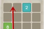 2048图文攻略 整体移动凑相同数字合并方法