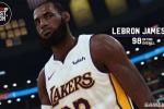 NBA 2K19詹姆斯能力值98 身穿湖人球衣亮相